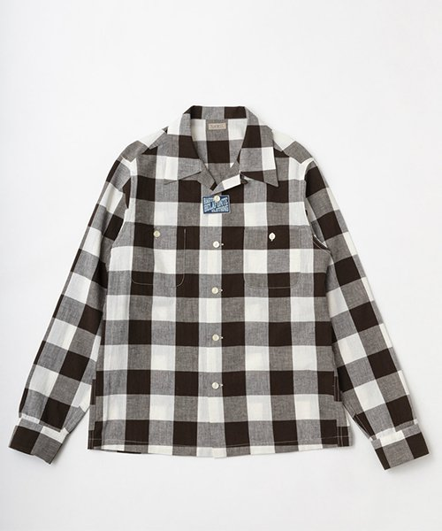 RAGTIME OPEN COLLAR GINGHAM SHIRTS