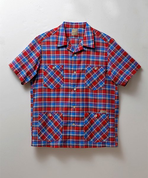 <img class='new_mark_img1' src='https://img.shop-pro.jp/img/new/icons20.gif' style='border:none;display:inline;margin:0px;padding:0px;width:auto;' />RED CHECKED HOLLYWOOD LEISURE S/S SHIRT