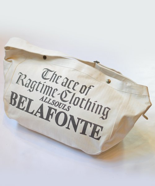 RAGTIME HERRINGBONE NEWSPAPER BAG (BELAFONTE ALLSOULS)