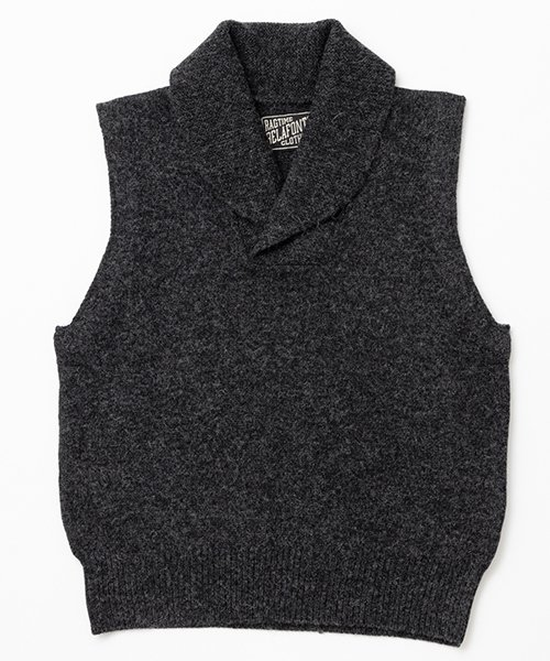 RAGTIME ROLL COLLAR KNIT VEST