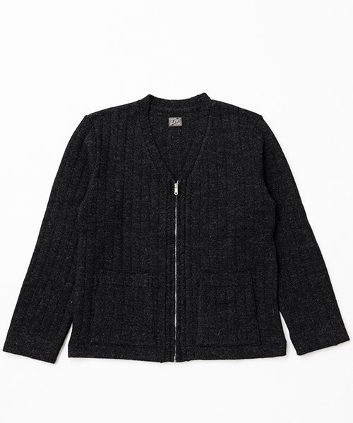 RAGTIME DROP NEEDLE ZIP CARDIGAN