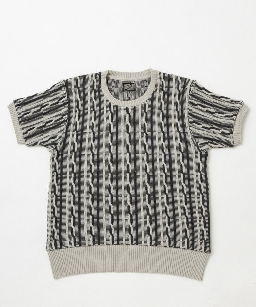 RAGTIME CABLE KNIT  S/S