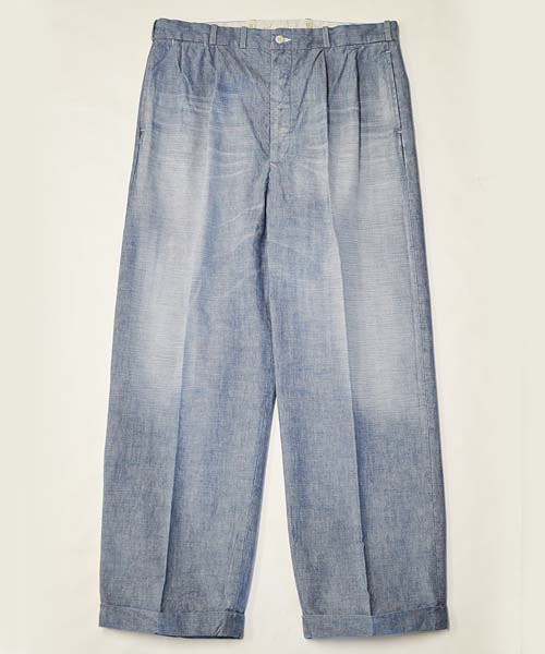 RAGTIME TLT 2TACK TROUSERS  BLUE CHAMBRAY
