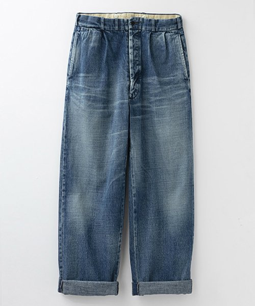 <img class='new_mark_img1' src='https://img.shop-pro.jp/img/new/icons56.gif' style='border:none;display:inline;margin:0px;padding:0px;width:auto;' />RAGTIME DENIM 2TACK TROUSERS ROLLED UP HEM AGED