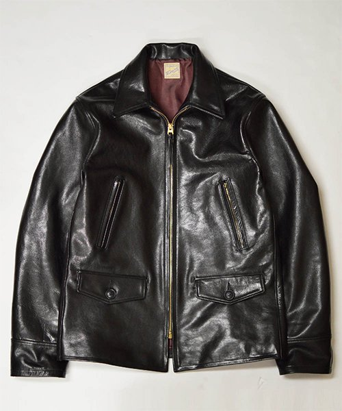 RAGTIME LEATHER SPORTS JACKET LONG