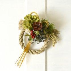 緑のダリアのふんわりお飾り2
