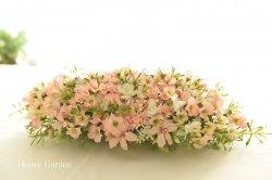 小ぶりなお花のセンターピース