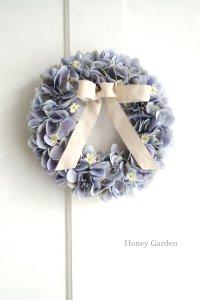 ニュアンス紫陽花のリース・ブルー