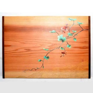 Tablette japonaise au Rimpa (herbe) 手描蔦琳派絵 平膳