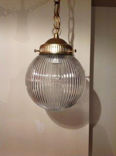 アンティーク クリアガラスランプ