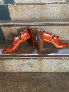 アンティーク 靴型ブックエンド