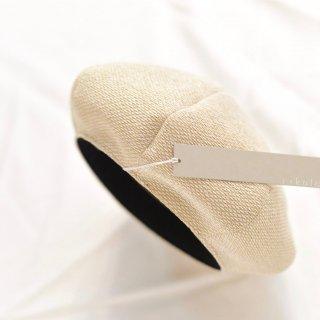 コットンを編み込んだ春夏のベレー帽/rikolekt