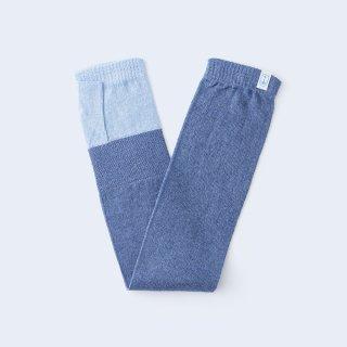 肌をまもるコットンリネンの、ふんわり爽やかなUVケア手袋(ブルー)/tet.