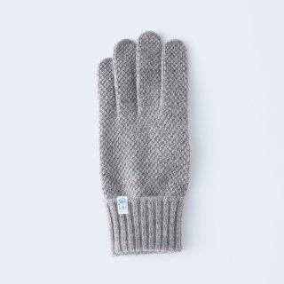 ふんわり手に優しいカシミヤ手袋(メンズサイズ・kanoko・ブラウンベージュ)/tet.