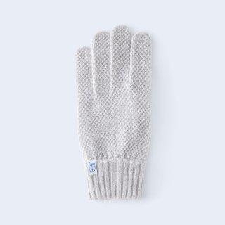 ふんわり手に優しいカシミヤ手袋(メンズサイズ・kanoko・ベージュミックス)/tet.