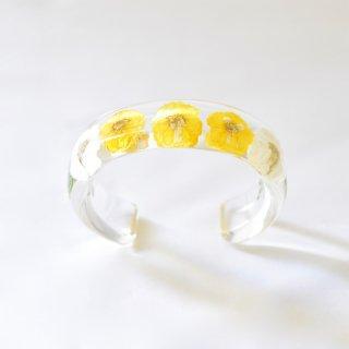 光透き通る、草花のバングル(イエロー)/nico design