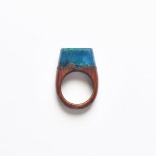 木をくりぬいた宝石のような指輪(A)/サシェミニ