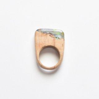 木をくりぬいた宝石のような指輪(B)/サシェミニ