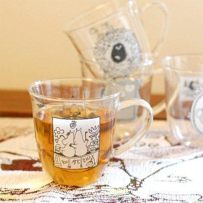 MOOMIN(ムーミン) モノトーン 耐熱ガラス マグカップ
