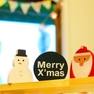 WOOD WORKING(ウッドワーキング) X'mas クリスマス モチーフ SET3 サンタ&スノーマン
