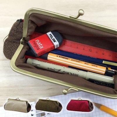 coron コスメポーチ 化粧ポーチ シンプル ふでばこ 筆箱 ペンケース