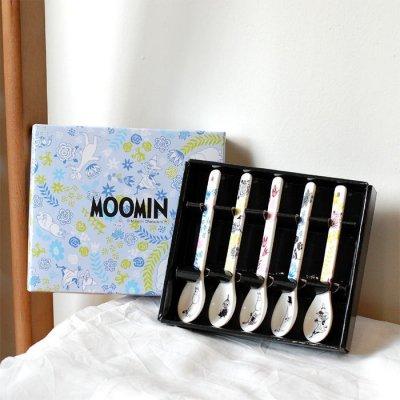 MOOMIN(ムーミン) フラワー 陶製スプーンセット【5本セット】