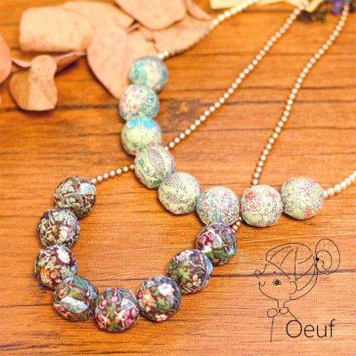 Oeuf(ウフ) リバティの生地を使った可愛い大ぶりネックレス
