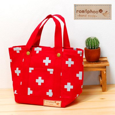romiphoo(ロミプー) 十字帆布ミニトートバッグ