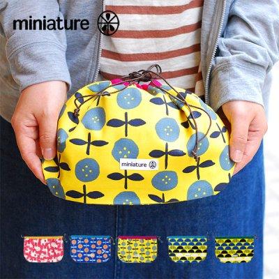 miniature(ミニチュア) 丸底巾着 レディースのかわいい巾着ポーチ