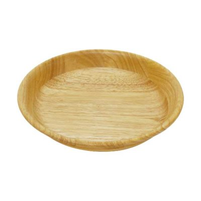 ラバーウッド 丸深皿22cm