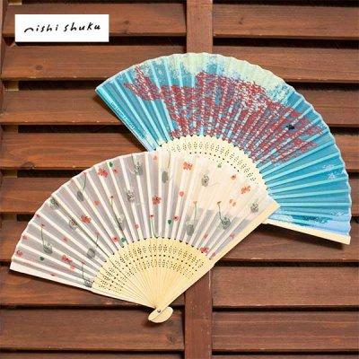 cozyca products(コジカプロダクツ) レオレオニ シルク扇子 夏に爽やかな女性におすすめの扇子