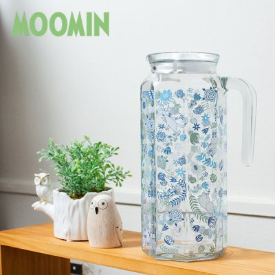 MOOMIN(ムーミン) 多角形ガラスポット 1000cc 北欧おしゃれ&かわいいお茶ポット