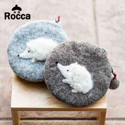 Rocca(ロッカ) コインケースにもなるハリネズミポーチ 小物入れやコインケースとして