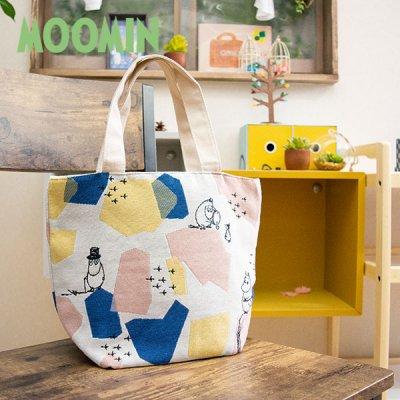 MOOMIN(ムーミン) ミニ トートバッグ マチがたっぷりのゴブラン織りミニバッグ。お出かけが楽しくなる可愛