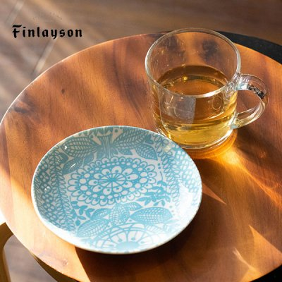Finlayson(フィンレイソン) 14プレート サイズ感のお花柄のお洒落なお皿