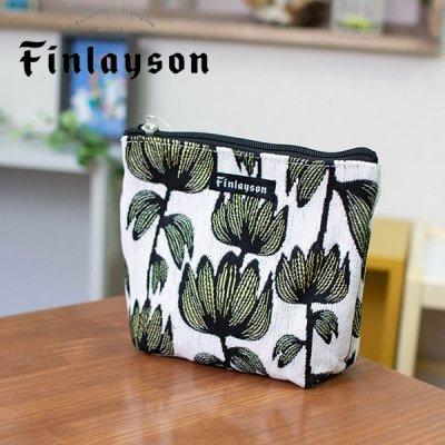 Finlayson(フィンレイソン) ゴブラン織り舟形ポーチ 化粧ポーチや小物の仕分けに便利なバッグ