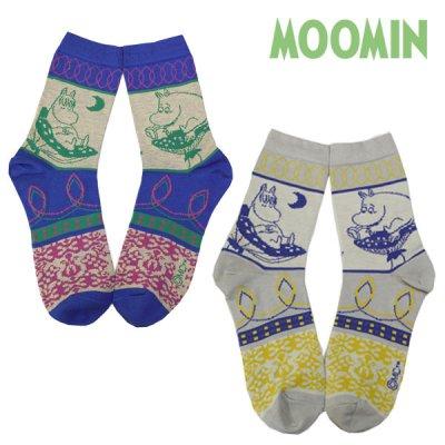 MOOMIN(ムーミン) ソックス 23cm-25cm ムーミンとフローレンがデザインされた靴下