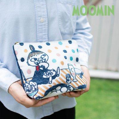 MOOMIN(ムーミン) リトルミイとディナーゴブラン織りファスナーポーチ リトルミイが描かれた小物入れ♪