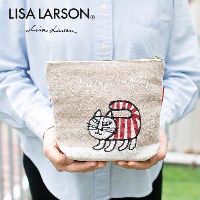 LISA LARSON(リサラーソン) マイキーゴブラン織りファスナーポーチ 小物入れや化粧ポーチとして♪