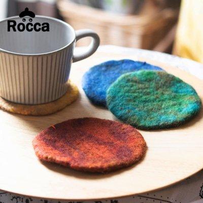 Rocca(ロッカ) フェルトコースター フェルト素材のお洒落なコースター
