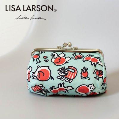 LISA LARSON(リサラーソン) 口金マチ付きポーチ マチが広めの可愛いポーチ