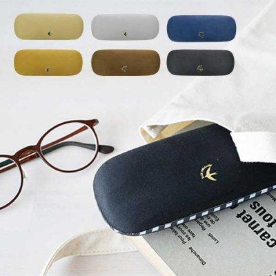 BLUE SWALLOW メガネケース 高級感のある光る箔押しのロゴ付き 眼鏡/メガネ/ケース/入れ物/収納