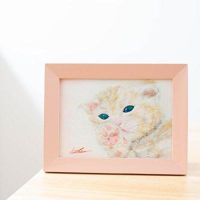 cHiYako(チヤコ) お洒落なインテリアになる可愛い猫の水彩画 ミニ絵画