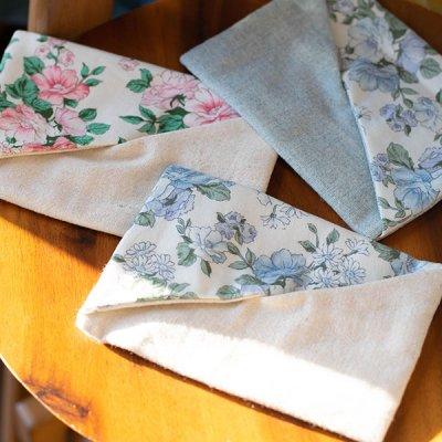 佐藤恭子(サトウキョウコ) 花柄と無地の生地を使った上品なポケットティッシュケース 携帯に便利なティッシ