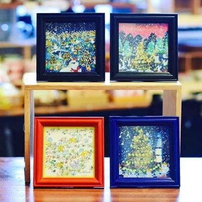cHiYako(チヤコ) お洒落なインテリアになる可愛い卓上クリスマス水彩画 小さめサイズで飾りやすい