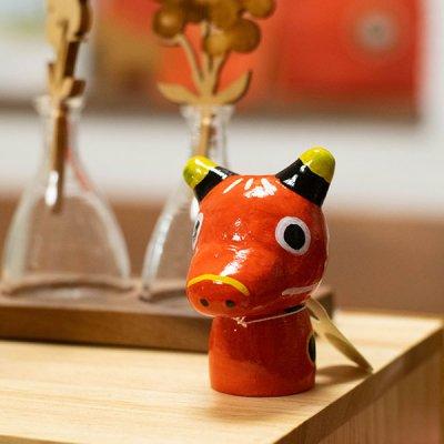 ぴぺたぺぴた(ピペタペピタ) 赤べこの置物 丑の縁起の良い置物