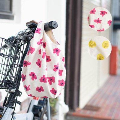 cottonfree(コットンフリー) 花柄ミニバッグ 小さめサイズのエコバッグ
