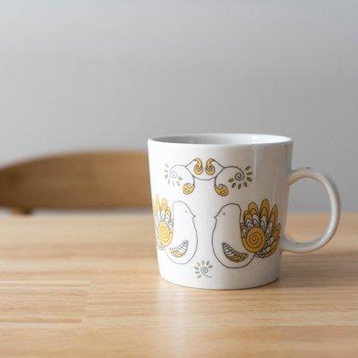 STUDIO HILLA(スタジオヒッラ) 陶器マグカップ 280ml 鳥モチーフの可愛いコップ