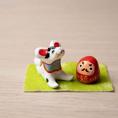 ★ぴぺたぺぴた(ピペタペピタ) 狛犬とダルマの置物