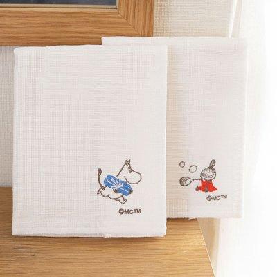MOOMIN(ムーミン) ワンポイント刺繍かや生地ふきん シンプルなデザインで使いやすいキッチンクロス